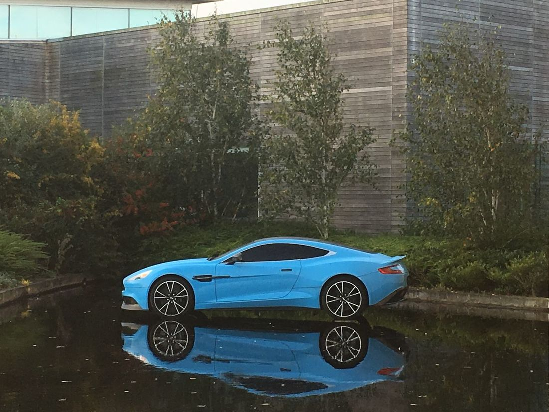 Car Transportation Day No People Tree Architecture Outdoors Building Exterior Aston Martin Reflection