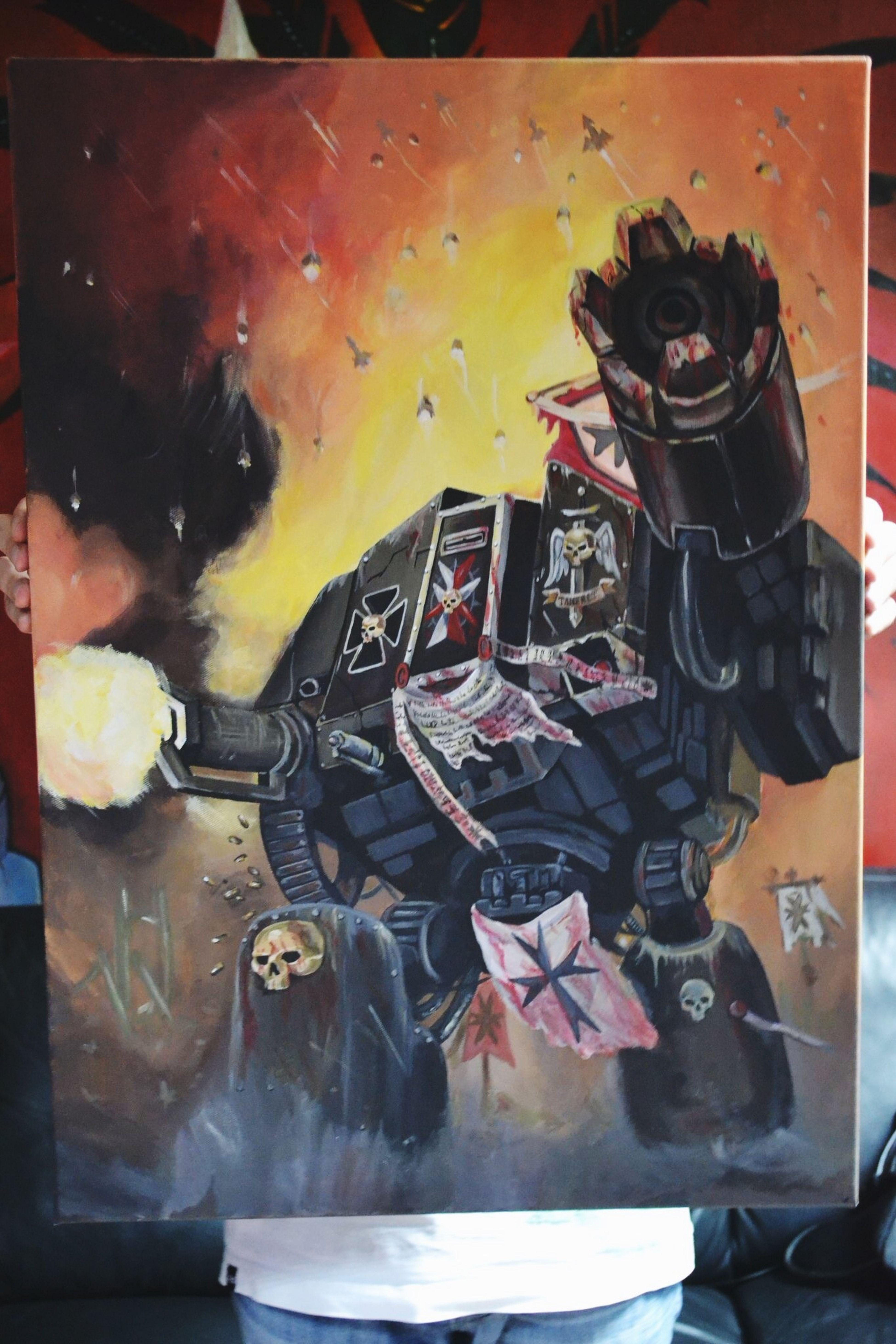 Art ArtWork Artist Warhammer Warhammer40k Dreadnought Acrylic Acrylic Painting Mywork