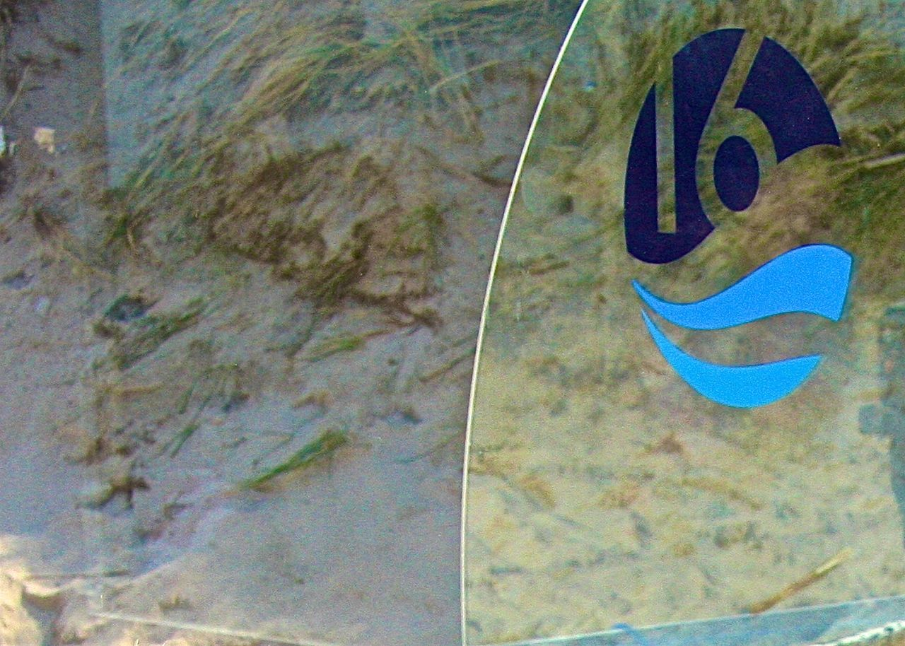 Abstract Beach Beachbar Better Look Twice Blue Buhne16 Circle Color Palette Communication Dunes Geometric Shape Information Sign Kampen Logo On The Beach Outdoors Restaurant Sand Window Sylt