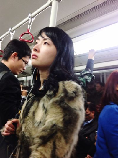 Taking Photos Metro Railway People Girl