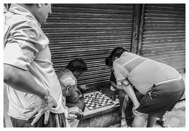 Leisure Activity Streetphotography Chessboard Street Games Hooked Blsckandwhite Black And White Decisions Decision Making