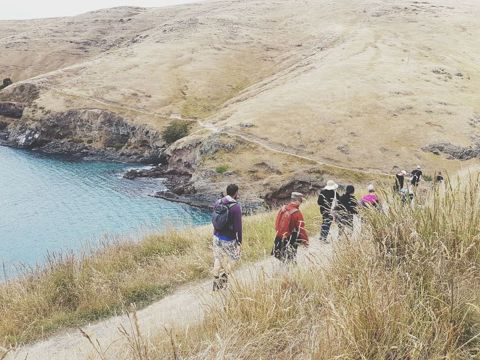 Finding New Frontiers Leisure Activity Outdoors Vacations Coastal ViewsNature Costal Walk Costal Trail Hiking Tranquil Scene Togetherness