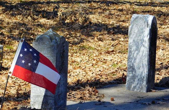 Old gravestones with flag. Graveyard Collection Old Graves Flags Stones Old Yard