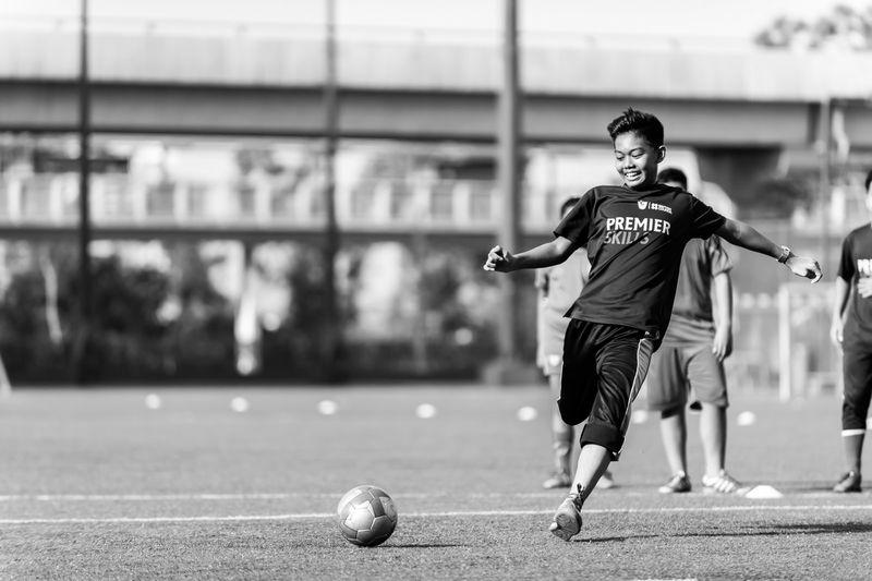 Blackandwhite Football Sports Photography Sportsphotography Field Football Training Malaysia