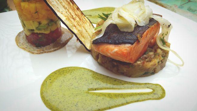 Salmon Slice Delicious Meal Resturant Serve