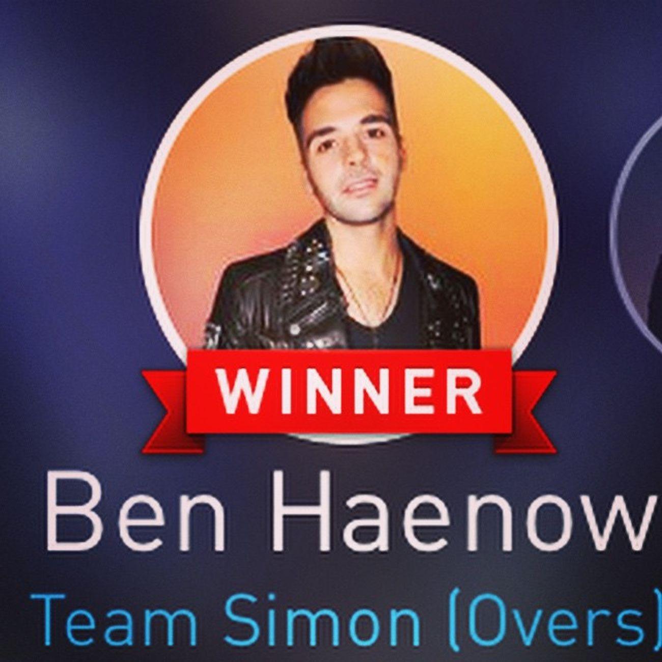 Benhaenow TheXFactor Xfactor Woohoo Winner