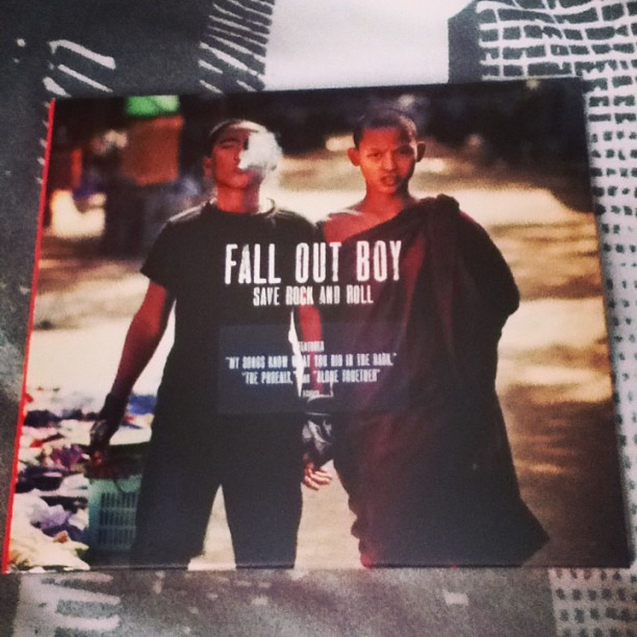My fall out boys cd came!!:D FOB Falloutboy  Album Falloutboysaverockandroll Punk Monk  Music LoveThem  Likeit Loveit Goood Like Follow Muchlove