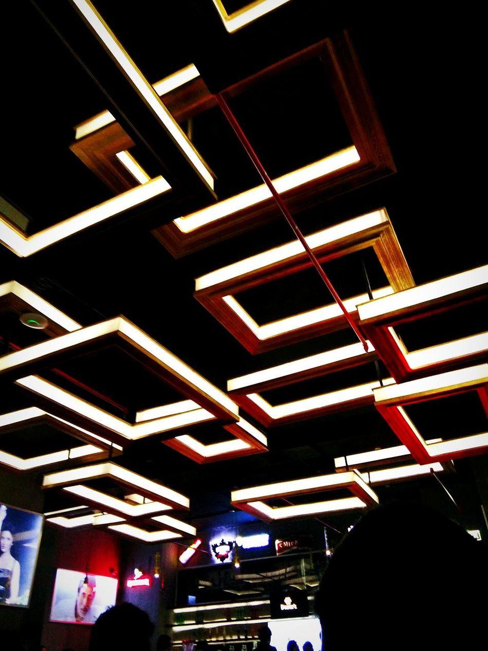 Architecture Night Illuminated Bar Studio Peace