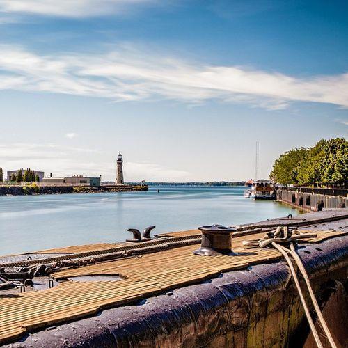 View from Buffalo naval yard Buffalo Buffalony Lighthouse Longexposure Submarine Photooftheday POTD