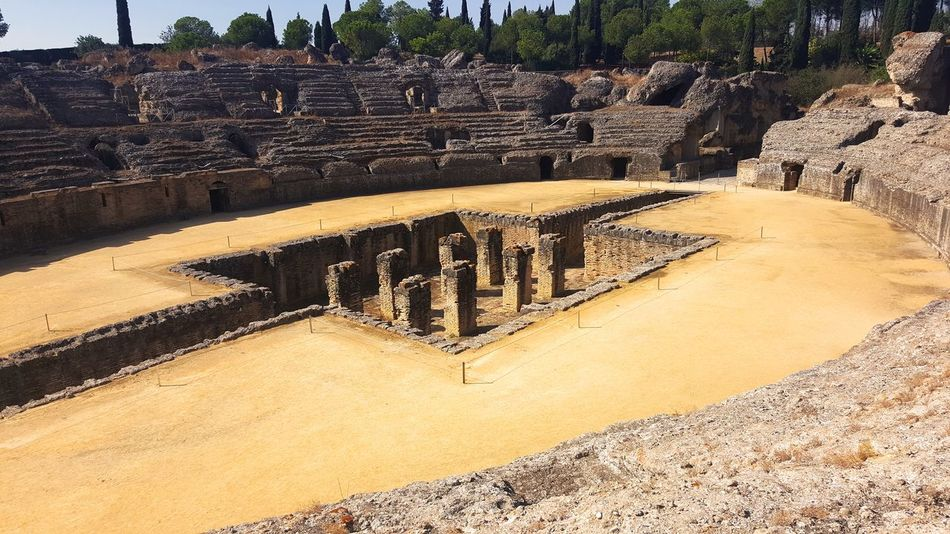 Roman Colosseum Italica History No People Seville Beauty In Nature Outdoors