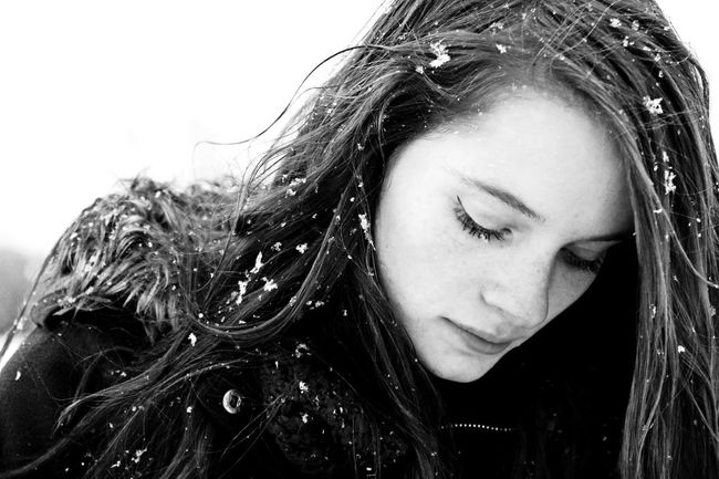 Winter girl! Rural Forest Outdoors Girl Snow Winter Ice Cold Blackandwhite Portrait