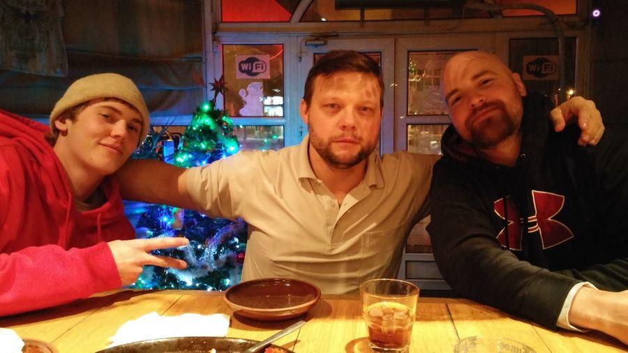 Saying see ya lata to 2 buddys. I hope we get to work together again soon. Here in bishkek.