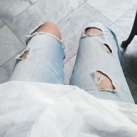 My ripped jeans is getting worst day by day! 😂😂😂 hahaha.. Feeling like soo compang camping (Indonesian words for tatters) but still I love it! 😜😝😋😍😍😍😄😄😄 High Angle View Personal Perspective Relaxation Human Foot Lifestyles Femininity Fashionable Casual Clothing Beautiful Freestyle Freedom Ripped Jeans Jeanslover Young Adult Young Woman Eyeemphoto Eyeemphotography Mobilephotography Low Section First Eyeem Photo