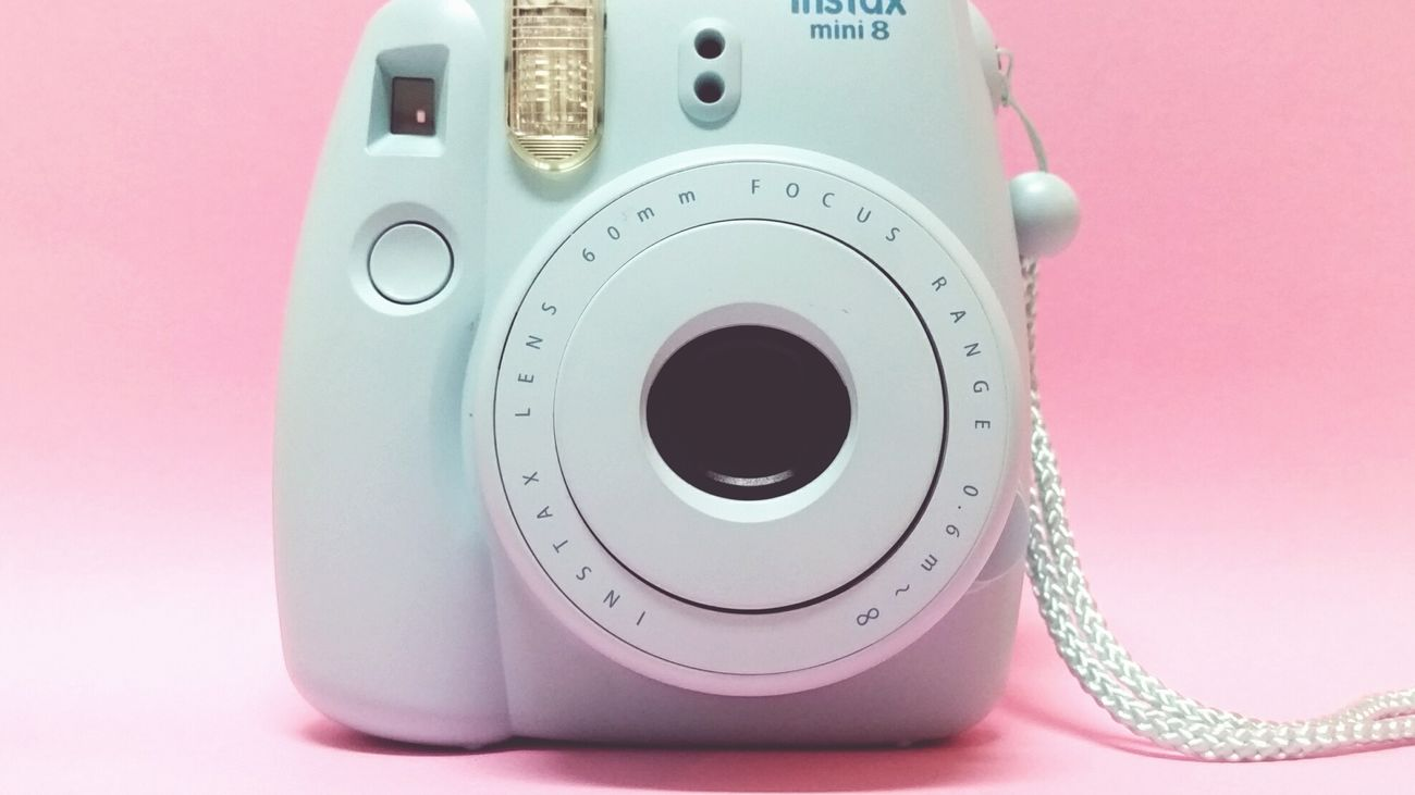 Instax Lens Backgrounds Pink Colors Objects No People Pastel Pastel Pink Pastel Blue Polaroid Camera Polaroid Camera Pink Color Blue Color Close-up Eyesight Eye Exam  Bright Colors Millennial Pink