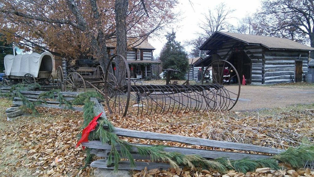 My Year My View A step back in time! Santa come on in the barn & warm your nose!, the kids will be here soon! Outdoors Tree Log Cabin Log Cabins Covered Wagon Farm Equipment Antiques Santa Claus Christmas Around The World Christmas Party Christmas 2016