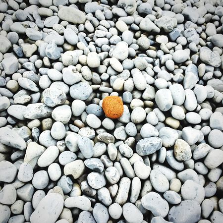 Be Different. Stones And Pebbles StandOutFromTheCrowd Divergent Outdoors Sea Beauty In Nature Perfect Imperfection Pebble Beach Colour The Great Outdoors - 2017 EyeEm Awards