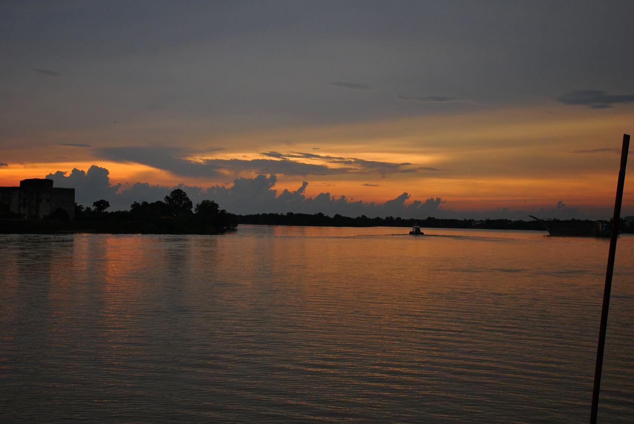 Almost sunset Sunset River Nature Sea Scenics Sky Teluk Intan My Favorite Place