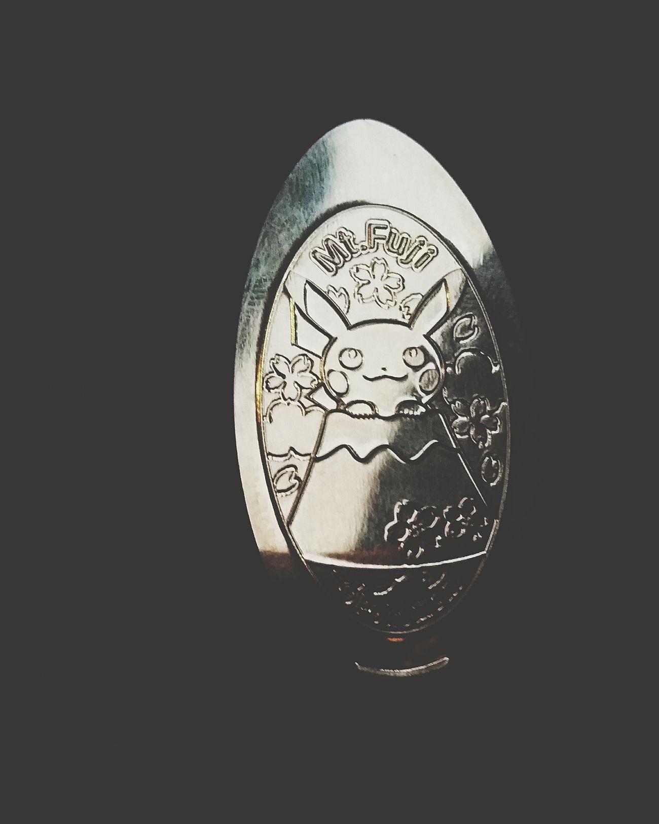 Pikachu Mount FuJi Coin Stamp Shizuoka,japan Japan Winter2016 JapanDec2016