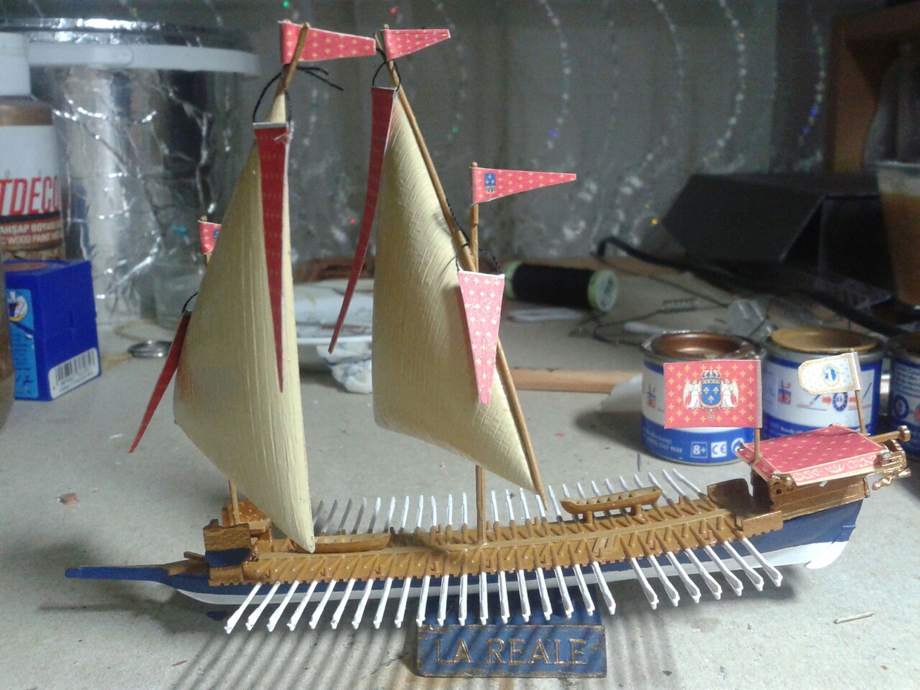 French Galley 14.louis Model Ship my project is ending