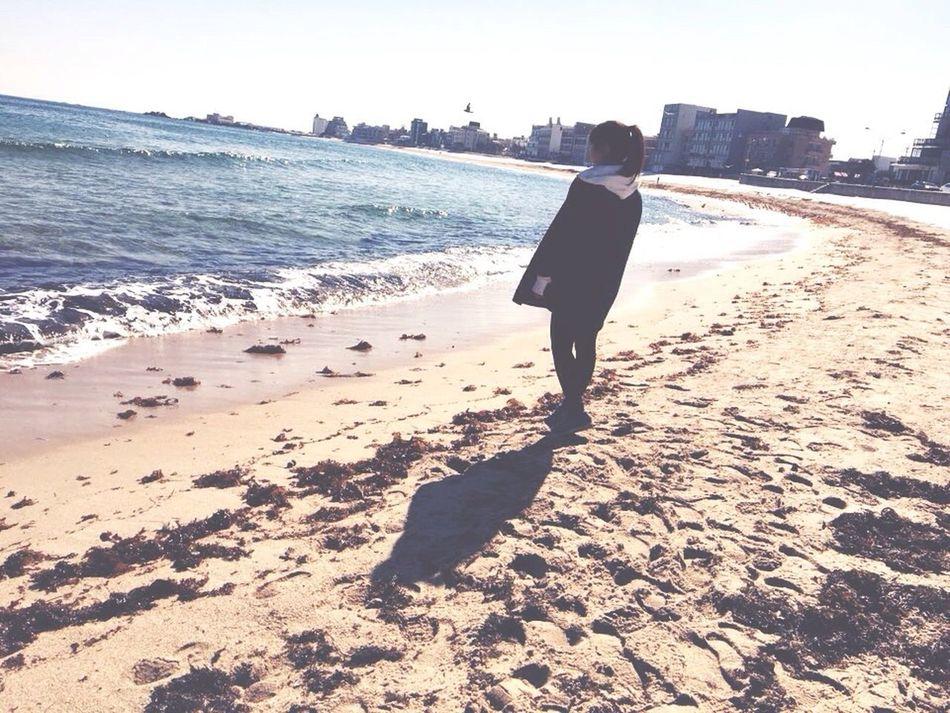 Sea View Alone Time It's Me Trip Photo Winter Sea Sokcho Beach Korea IPhoneography Iphone 5