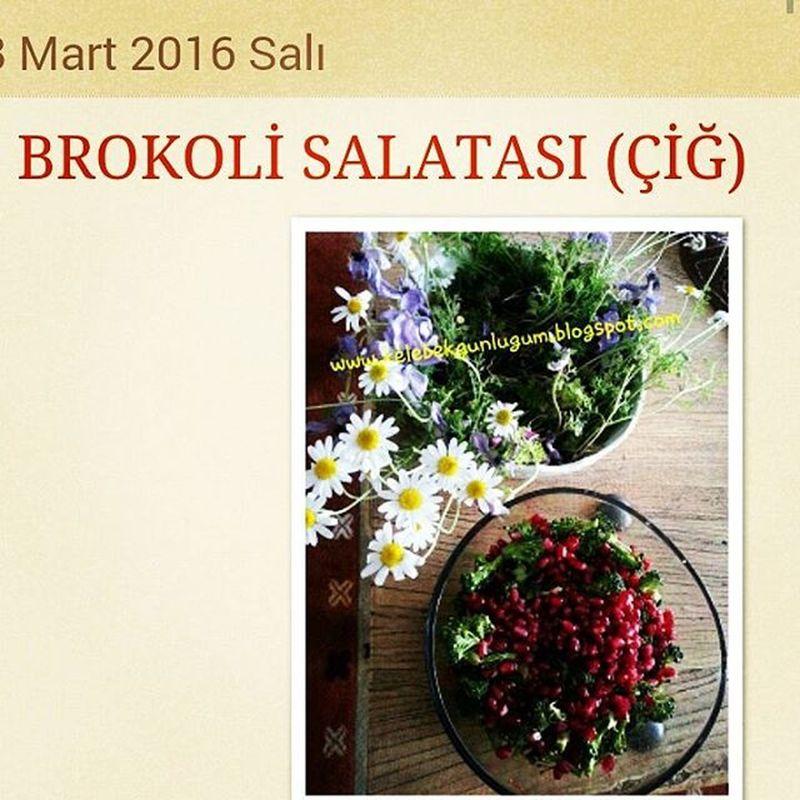 Kadınlar günümüz kutlu olsunnnn 🙆🙆🙆🙆🙆 Brokoli salatasi (çiğ) tarif icin www.kelebekgunlugum.blogspot.com Delicious Foodbloger Grammutfak Ig_bloggers Bloggerdayanışması Lezzetli Sağlıklı Foodfotography Bolcatüketin Ig_turkey Ig_ksk Kadınlargünü Kadincicektir Kadin şidettehayır