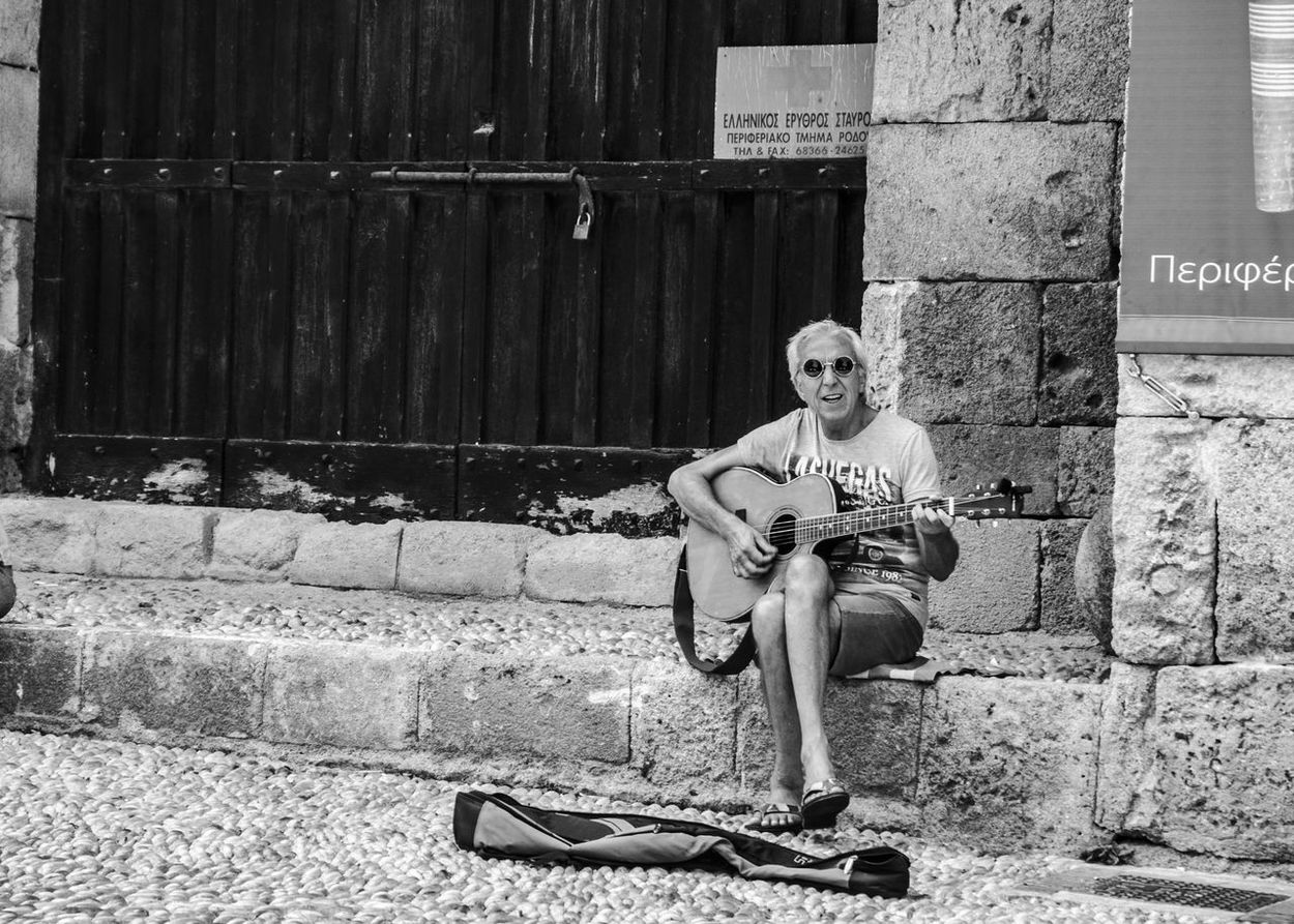 Snap a Stranger Streetphotography Streetart Street Life Black And White Outdoors Music Photography  Busker Busking