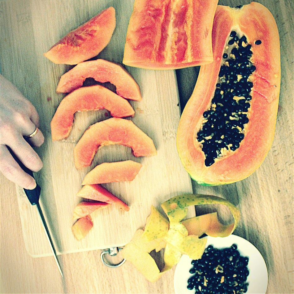 My Favorite Breakfast Moment Healthy Food Daily Life Diet & Fitness Vegetarian Natural Lifestyle Fruits Cutting Board Cutting Fruits Fresh Food Fresh Fruits Vegan Food Veganism Fruitsnacks Fruit Salad Breakfast Time Wooden Background Sweet Food Papaya Natural Materials Low Calories Chef Healthy Lifestyle A Bird's Eye View