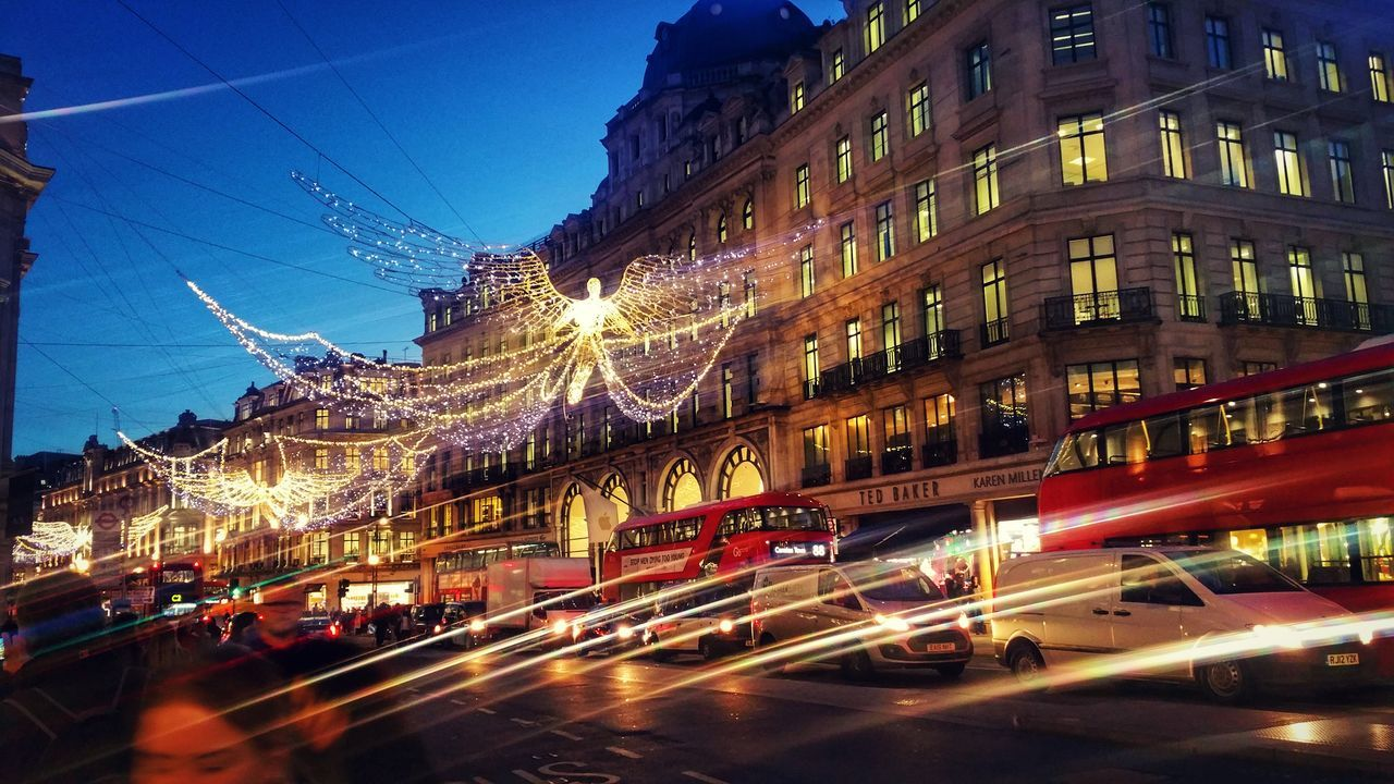 Christmas Lights Lights Regentstreet Spirit Of Christmas Lightup Lit Fairylights Angel Londonbus