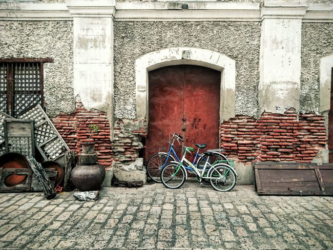 Heritage Traveling Vintage Vigan Philippines EyeEm Gallery EyeemPhilippines Colour Of Life Bicycle Brick Wall EyeEm Phillipines