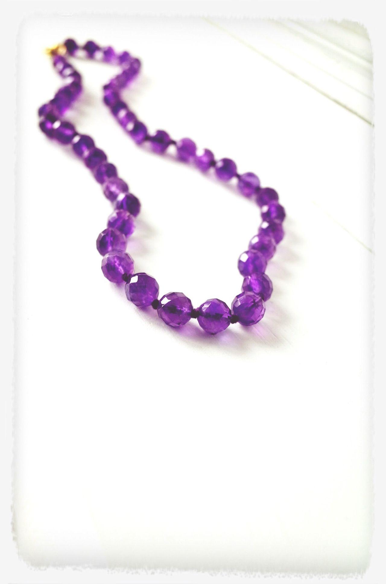 Jewelry Amethyst Purple Necklace