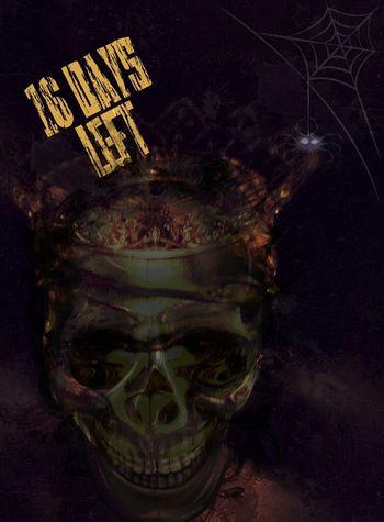 Less than half way there. Skulls Halloween Ilovehalloween Decoration Text Skulls 💀 Creativity Skull King