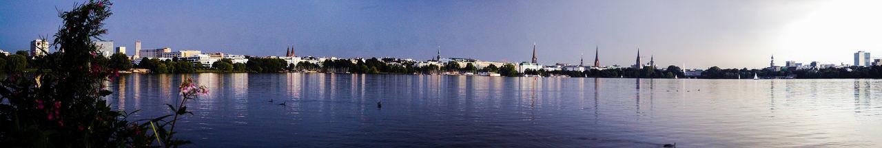 The EyeEm Facebook Cover Challenge Hamburg Ein Blick Uber Die Aussenalster Hamburg Blue Sky