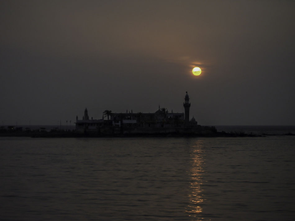 Bombay Calm Hajiali Illuminated Incredible India India Mumbai Ocean Reflection Sun Sunset Tranquility Waterfront