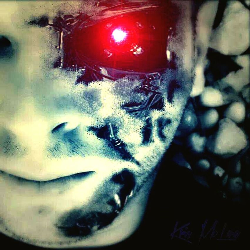 Me as Terminator 😅 Hello World That's Me Selfie ✌ TerminatorMode Terminator Effect Terminatoreye Photoshop Edit Photoshop Italy❤️ Check This Out