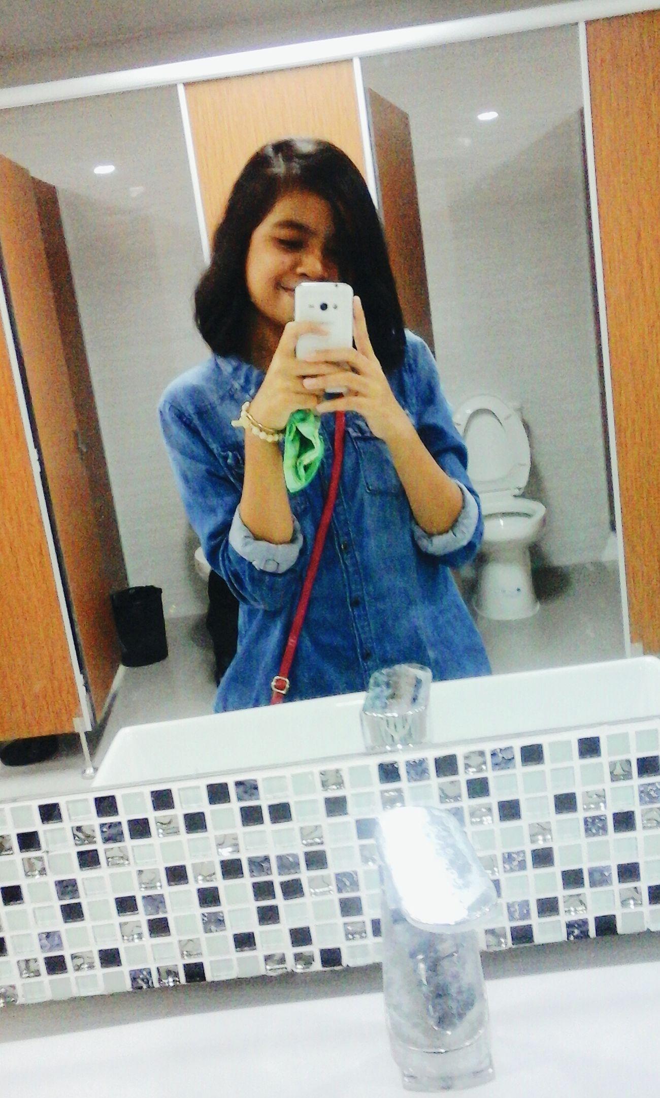 Throwbackthursday  Denim Hm Philippines Bored Ootd Lateupload Mirrorselfie Eye Em Selfie ✌Lifestyles Outdoors Lavatory