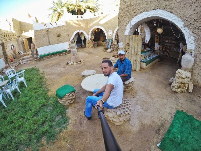 Libya Ly Libyan Libyan Style Ghadames Ghadamis Oldcity Tradition Traditional Heritage HeritageVillage Palm Trees Cafe Tojada_cafe Table Chair Lawn Grass Souvenirshop Archaeological Goprohero4 Gopro Snapseed This Is Libya <3<3  Libya Nature