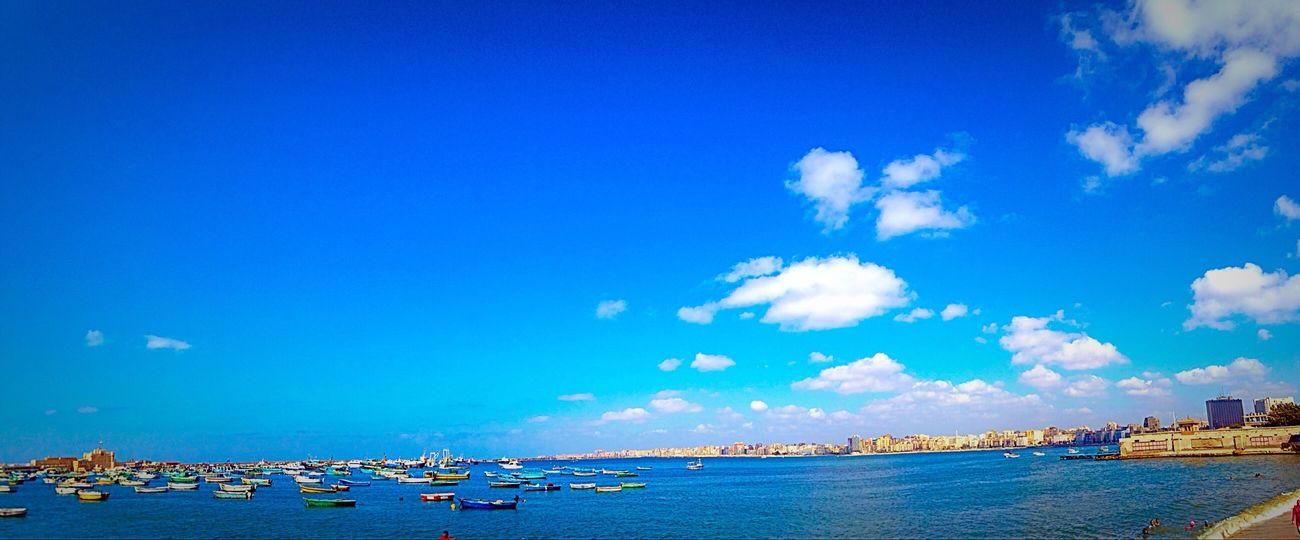 Blue Sky Sea Alexandria Egypt