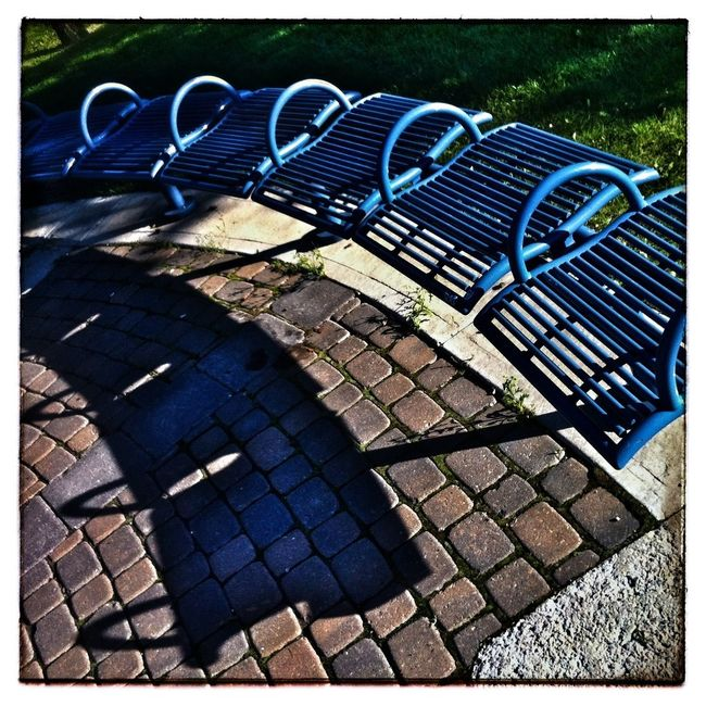 Curved bench and shadow. IPhoneography Photography Shadows & Light Abstract