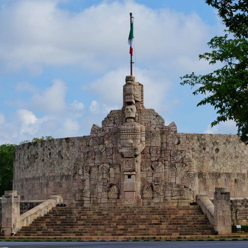 Monument Day Monumento A La Patria Paseo De Montejo Mérida Yúcatan Mexico