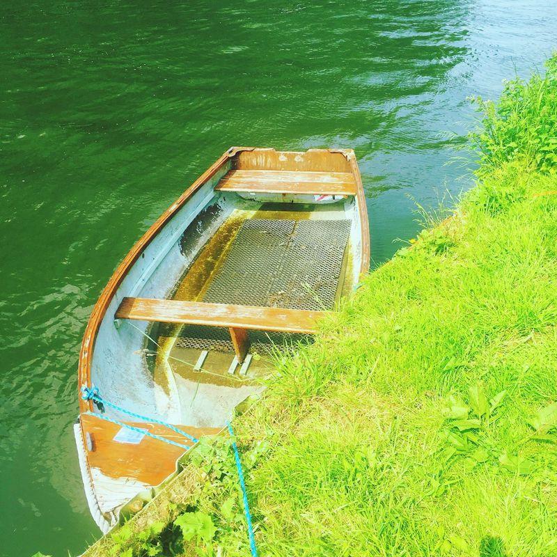 Rowboat. Thames River at Sonning.