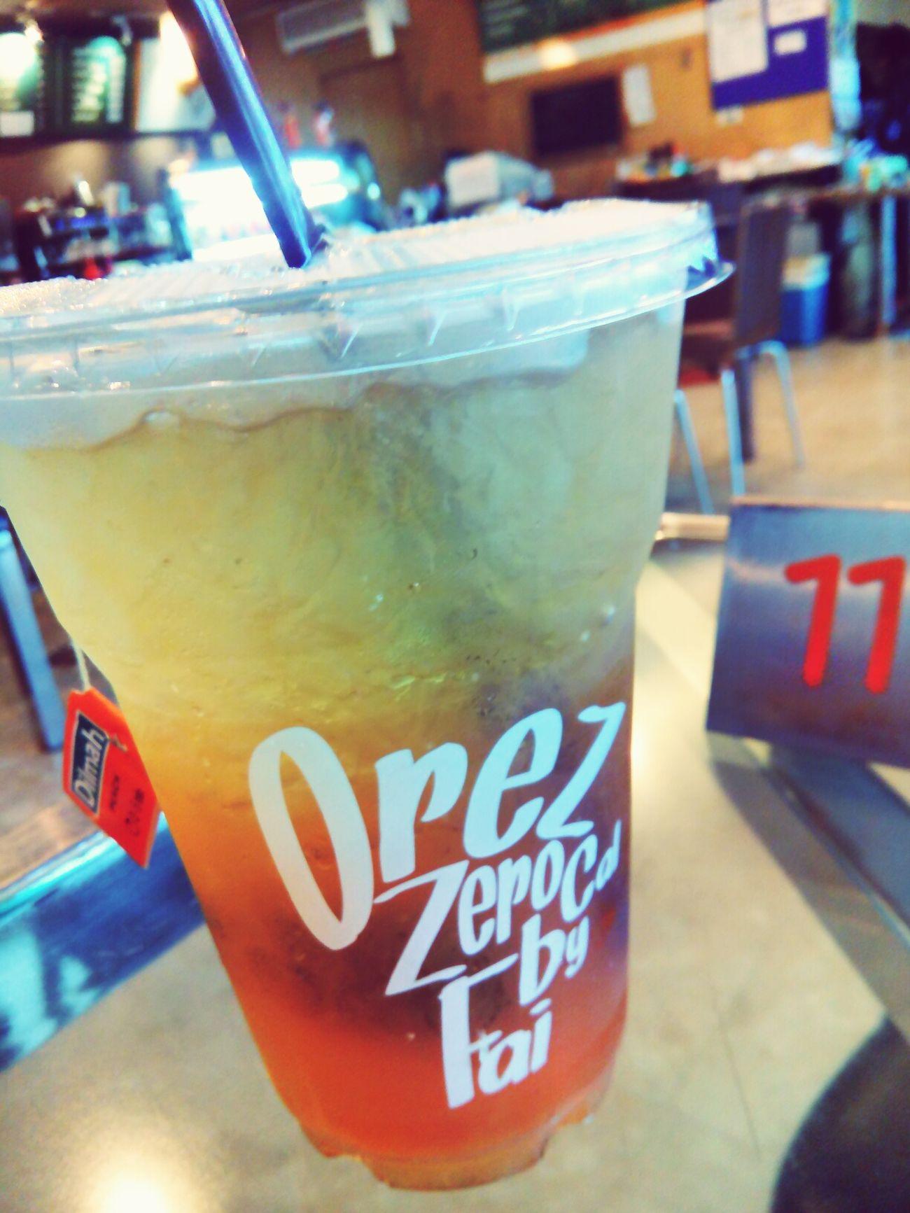 Get energy from Peach tea.