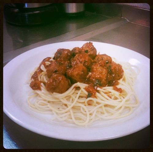 Spaghetti meatball made me.. Chefonboard Turnip Food Channel Enjoying A Meal