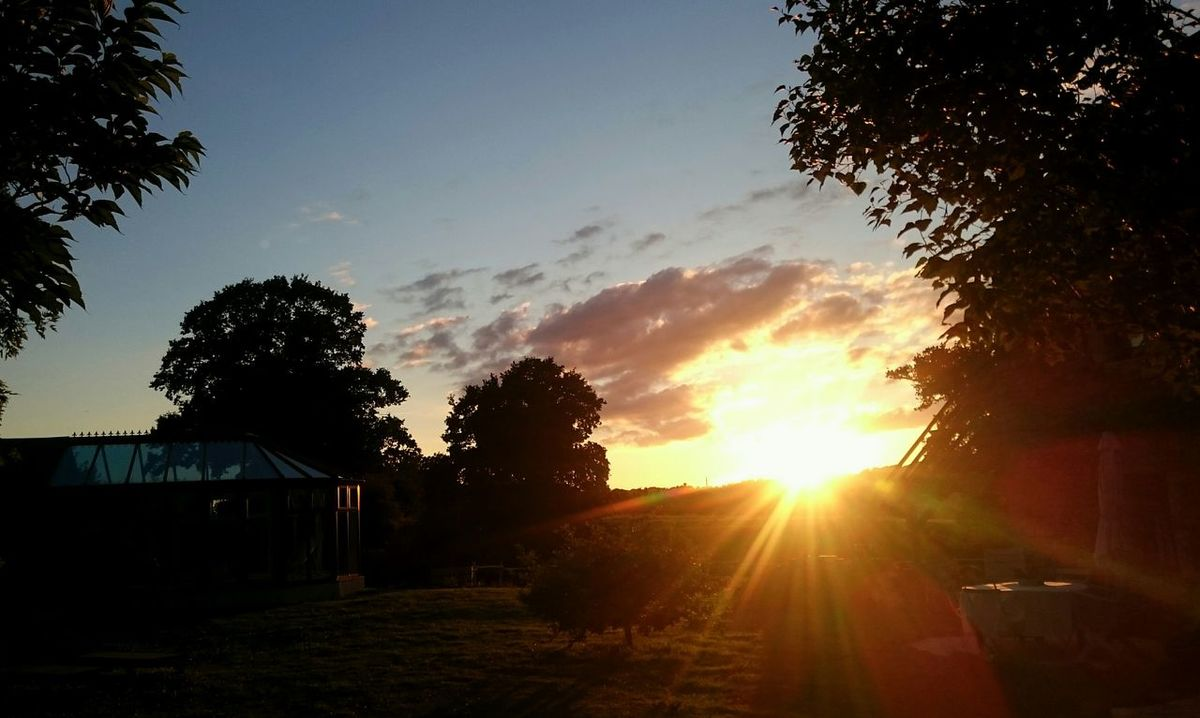 Sunset from our Holidayhome. Normandy France Sunset_collection Sunbeams