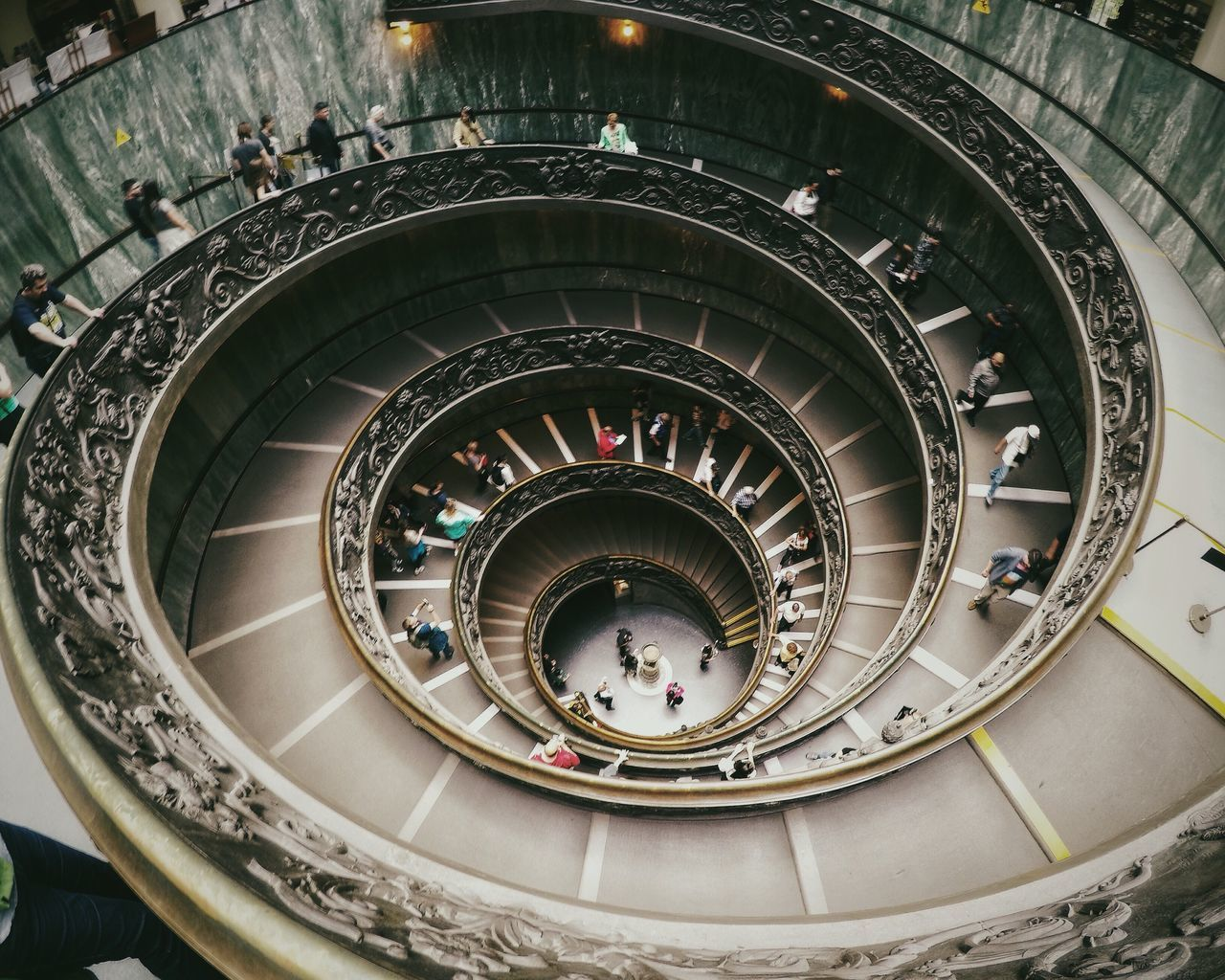 Symetry Rome Architecture Spiral Spiral Staircase Staircase People Gopro Museum