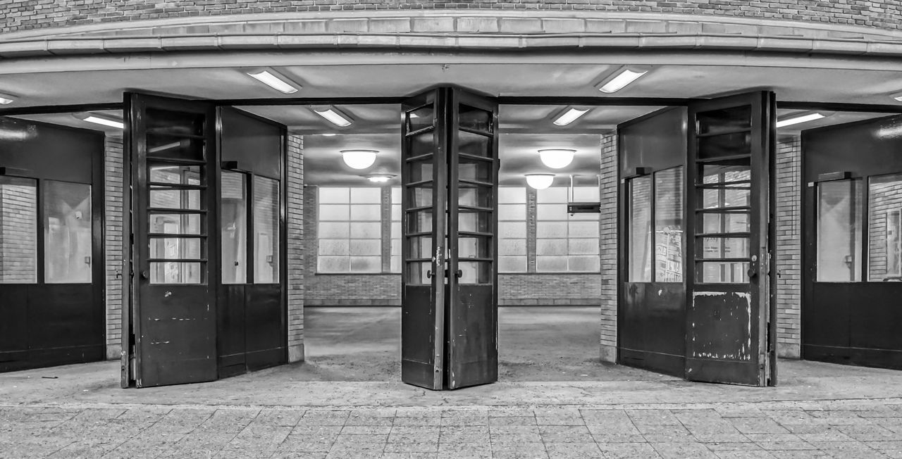 Architecture Black & White Building Exterior Built Structure Day Door Doors Factory Indoors  No People OpenEdit Store Technology