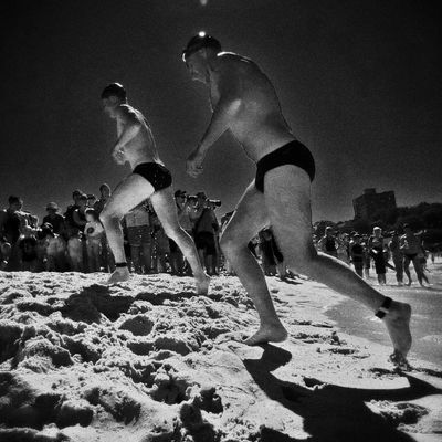 Being creative at Coogee Beach by Stephen Godfrey