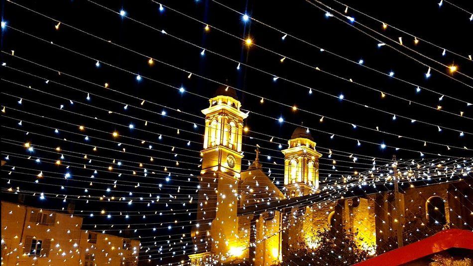 Corse Illuminated Night Corsica Bastia Architecture City Sky