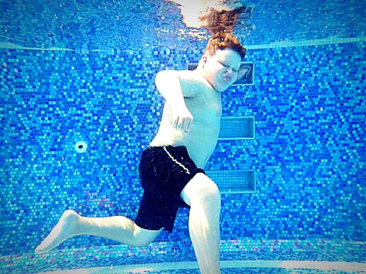 The Essence Of Summer Kid Photography Children Photography Kids Being Kids Swimming Pool Swimming Time My Son ❤ Swimming My Photography Taking Photos ❤ Water Photography Waterproof Camera Underwater Photography Swimming Underwater Underwater Life