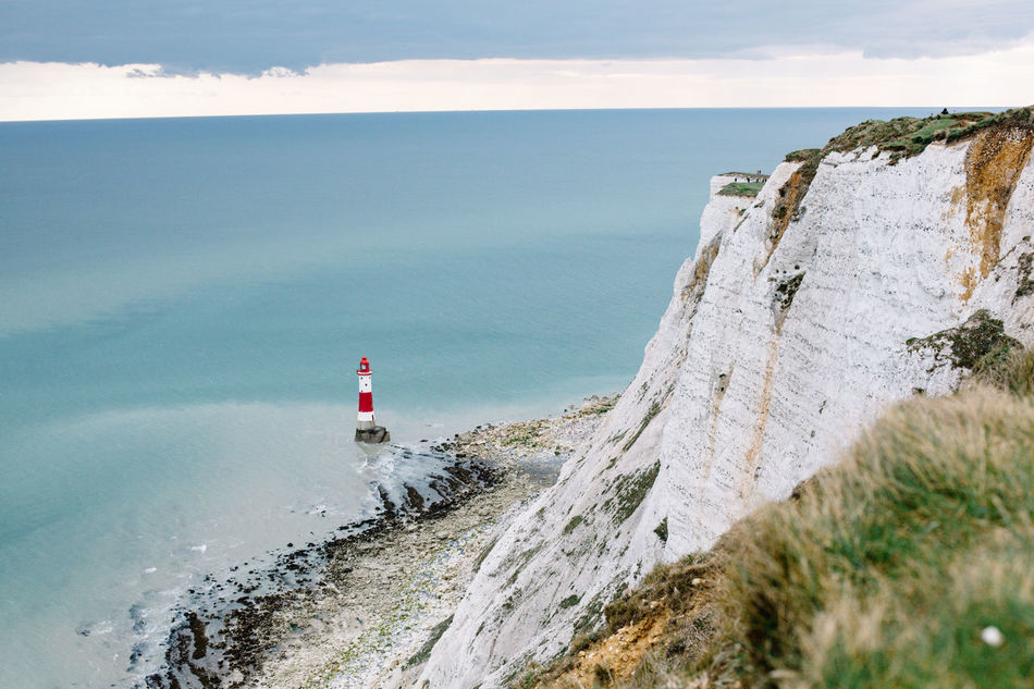 Beach Beachy Head Beauty In Nature Brighton Cloud - Sky Great Britain Lighthouse Lighthouse Lighthouse_lovers My Year My View Nature No People Outdoors Sea Sky Water White Rocks