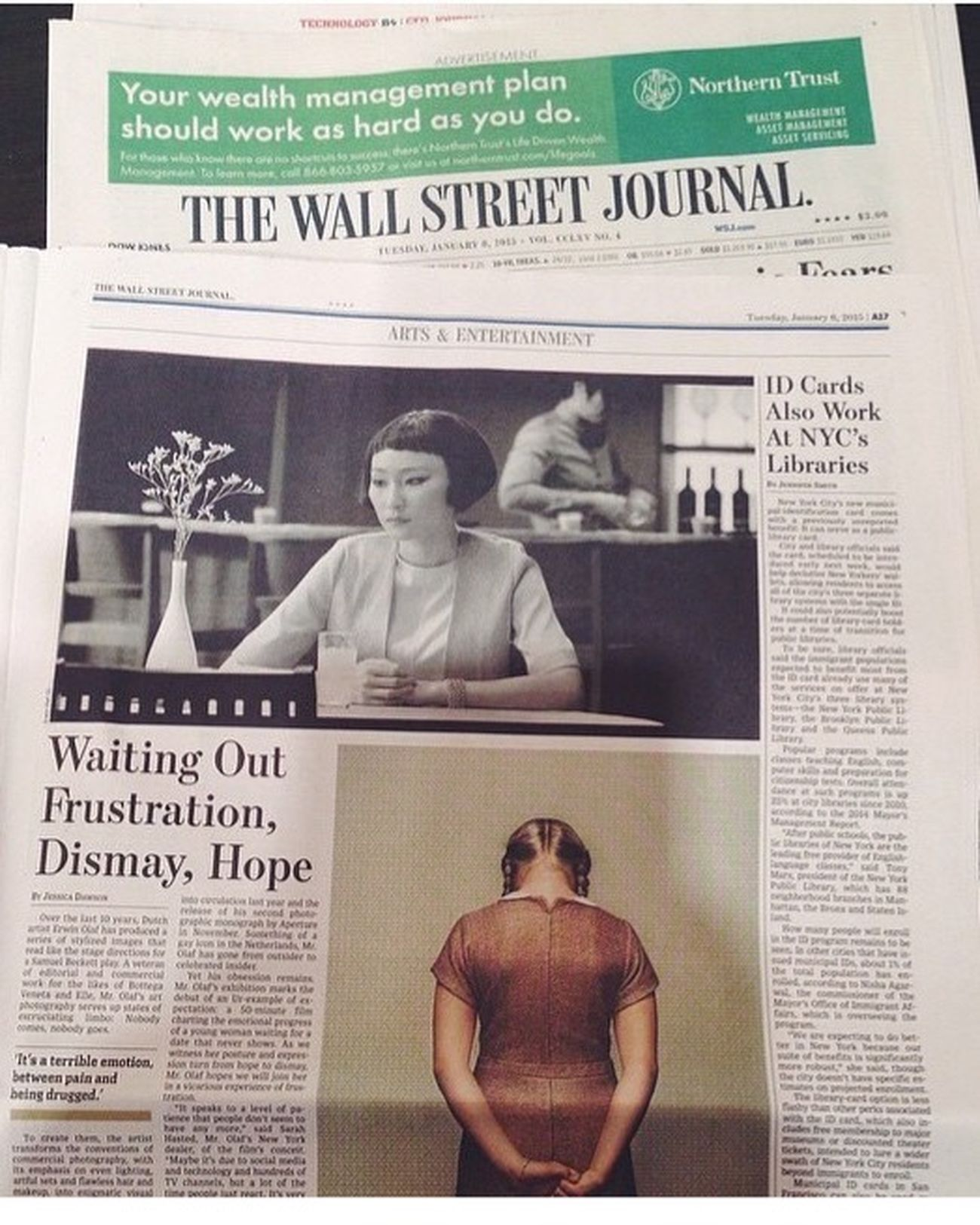 Studio Erwin Olaf The Wallstreet Journal